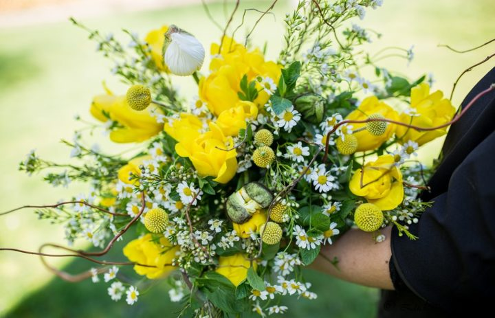 Bouquet Blanc et jaune citron [Photo site]