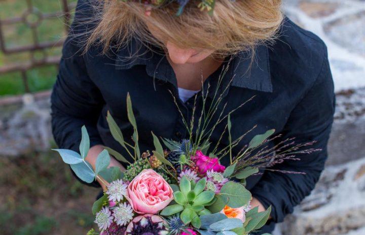 bouquet-couronne-mariee-fuschia-rose