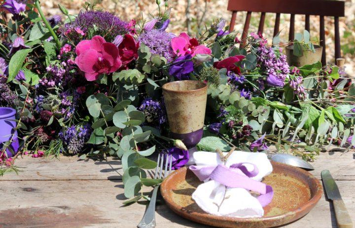 decoration-centre-table-mariage-violet
