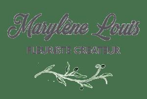 Logo de la fleuriste Marylène Louis, 400px de large