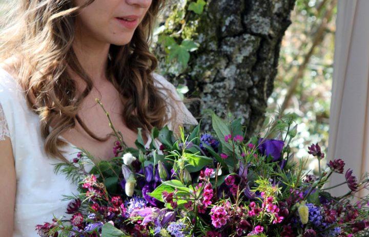 mariee-inspiration-mariage-violet-bouquet-fleurs-sauvages-couronne-fleurs-fine
