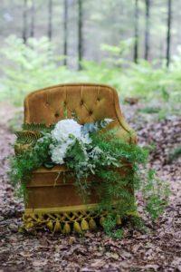 Grand bouquet de saison cascade blanc et vert