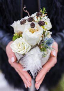 Bouquet de saison hiver blanc