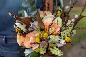 Bouquet de saison automne marron et orange