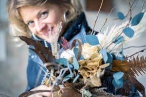 Portrait de Marylène Louis, fleuriste créateur à Tulle en Corrèze
