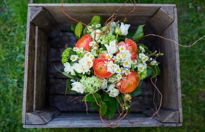 Bouquet blanc orange [Photo site]