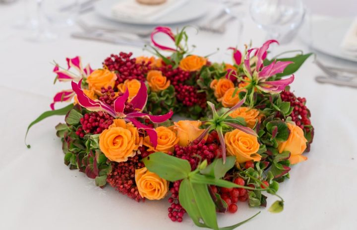 centre-table-mariage-automne-orange-rouge