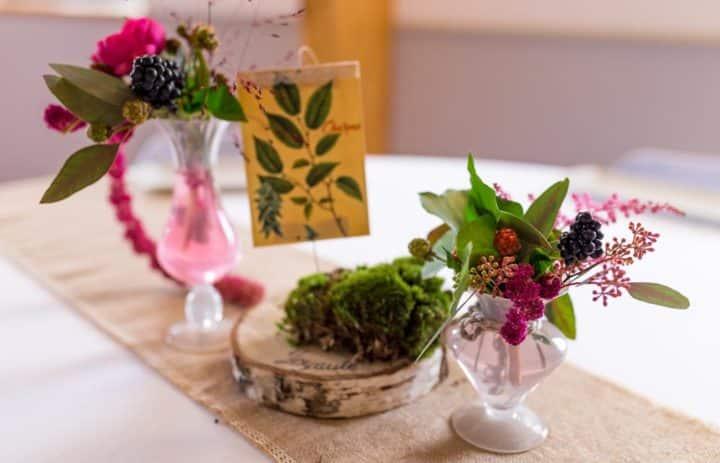 decoration-centre-table-automne-fruits-fleurs